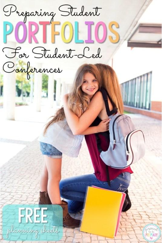 student portfolios for student led conferences
