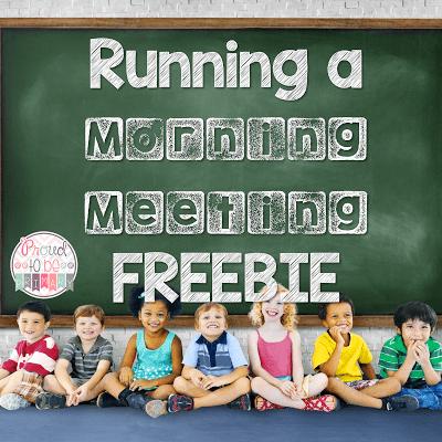 Running a Morning Meeting freebie