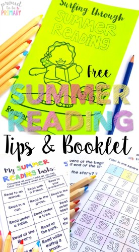 summer reading tips and booklet