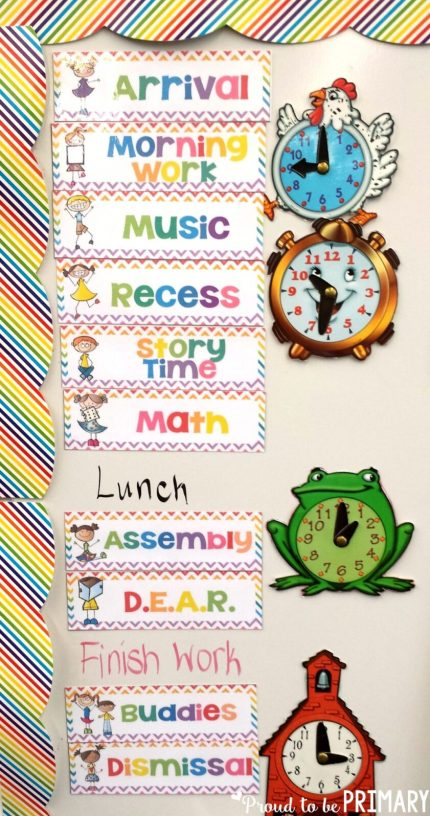 classroom management ideas class schedule