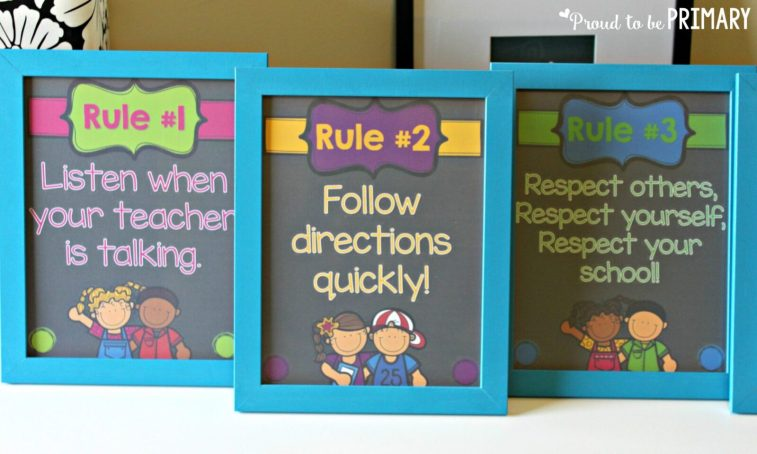 classroom management ideas rules