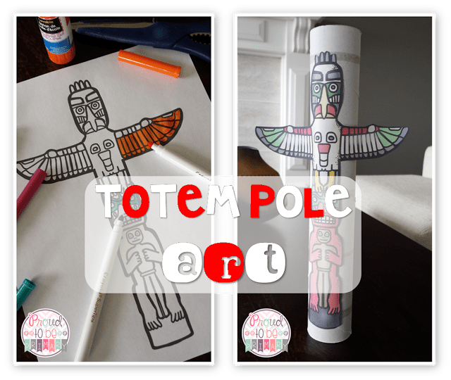 Canadian childrens books - totem pole art