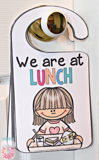 classroom management ideas door hanger