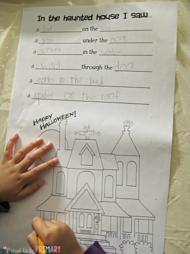 Halloween Writing activity: In the Haunted House