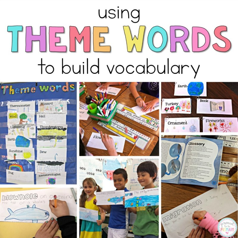 building student vocabulary using theme words