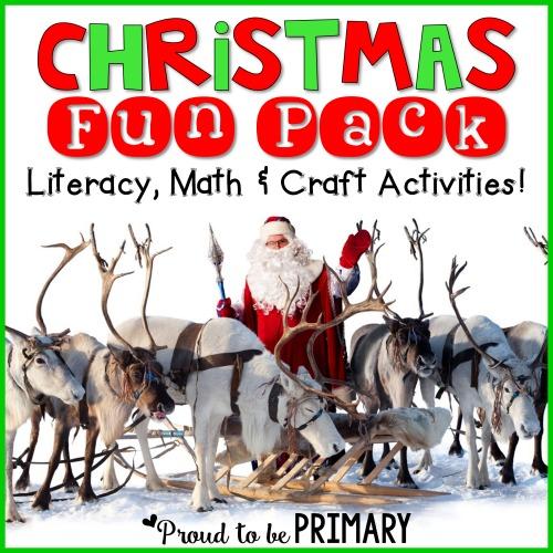 Christmas FUN Pack: Literacy, Math & Craft Activities