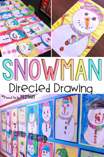 snowman drawing art activities
