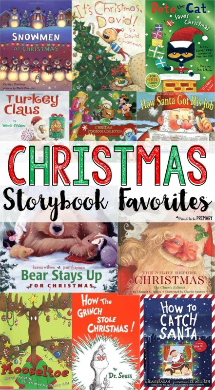 Christmas storybook favorites - A collection of storybooks that are perfect for Christmas time. Build enjoyment and excitement by reading a different book every night and place them in a special box to open
