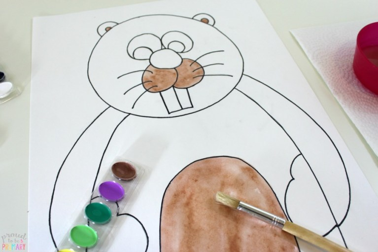 how to draw a groundhog - steps