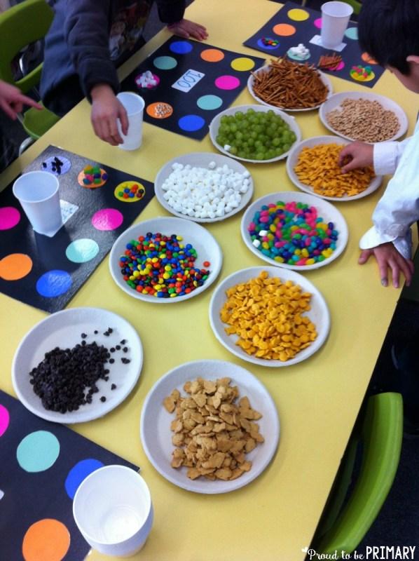100 Days of School Activities - snacks