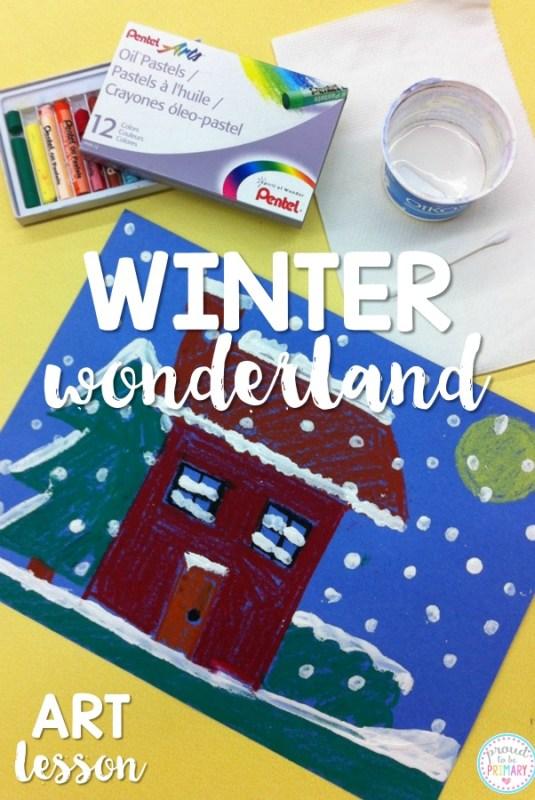 Winter art project: winter wonderland