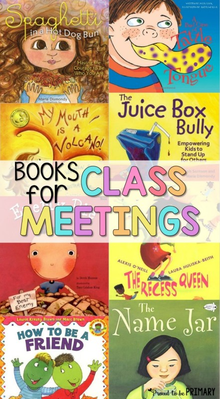class meeting social emotional learning picture book list