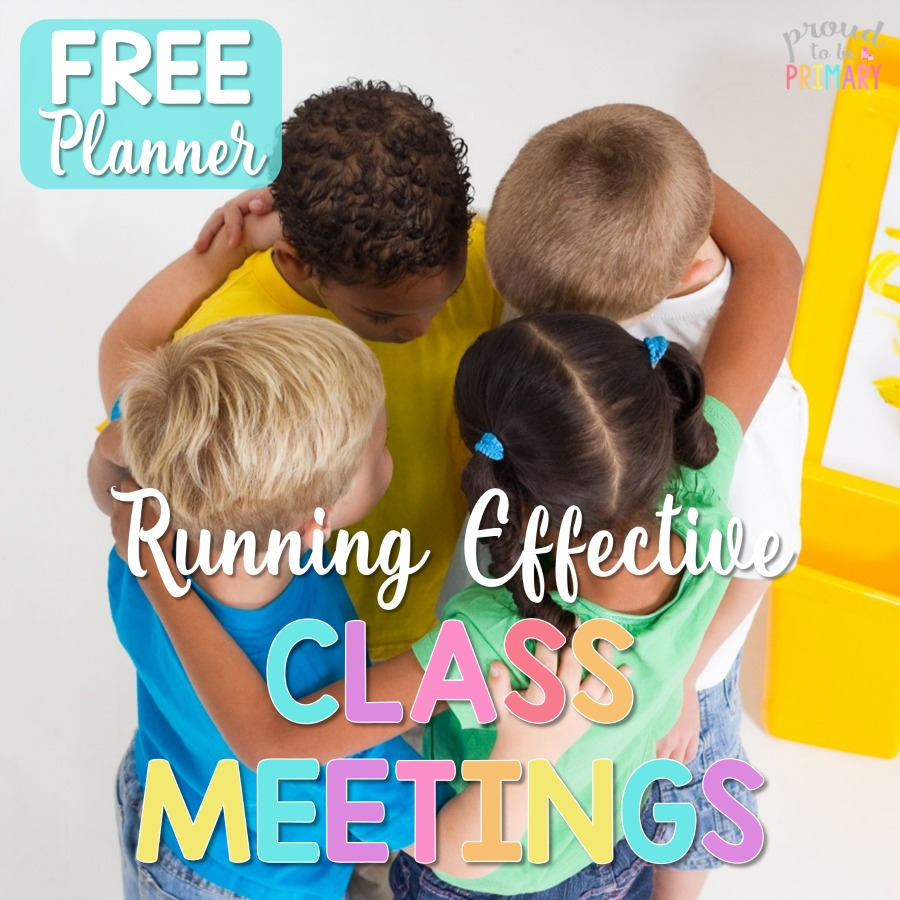 Are you looking for a way to help children and social responsibility skills in the classroom? This informative post outlines how-to run an effective classroom meeting today! It includes details about the schedule, social emotional topics, lessons and activities, books, and a FREE planner to get you set!