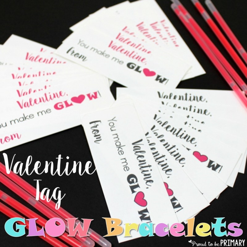 Looking for a quick, cheap, and fun Valentine's Day gift idea for children? Print out these Valentine tags and attach them to glow bracelets. Head to the post for your FREE printable tags!