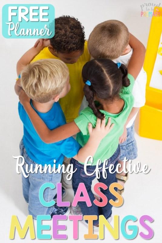 running an effective class meeting