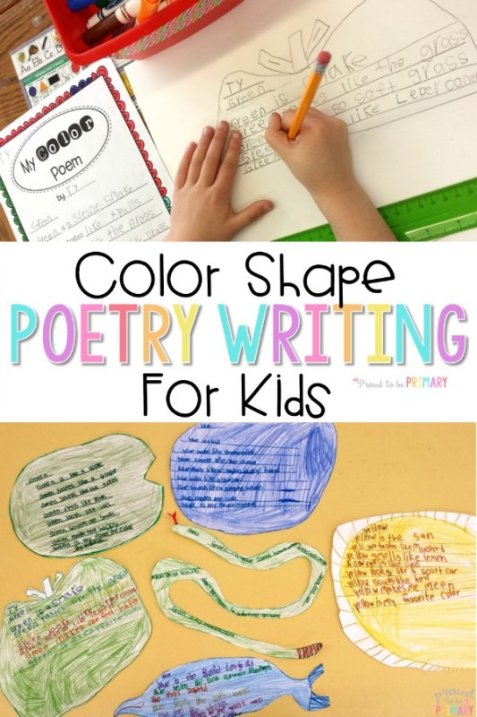 color shape poetry writing