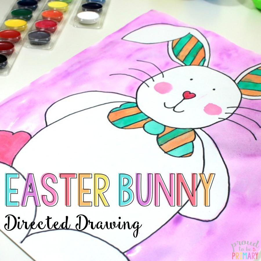 Are you searching for the perfect arts and craft activity for Easter? This directed drawing of the Easter Bunny provides teachers with an easy to teach lesson that Kindergarten and primary kids will love! {FREE directions included}