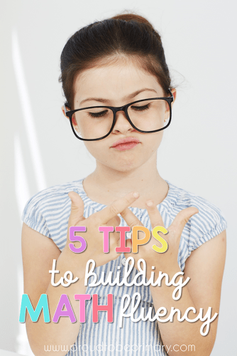 tips for building math fluency