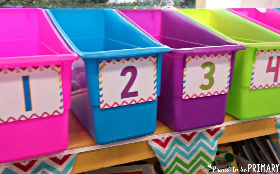 tips for new teachers - storage bins