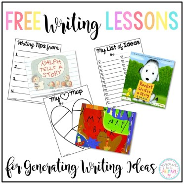 writing ideas for kids - free writing lessons