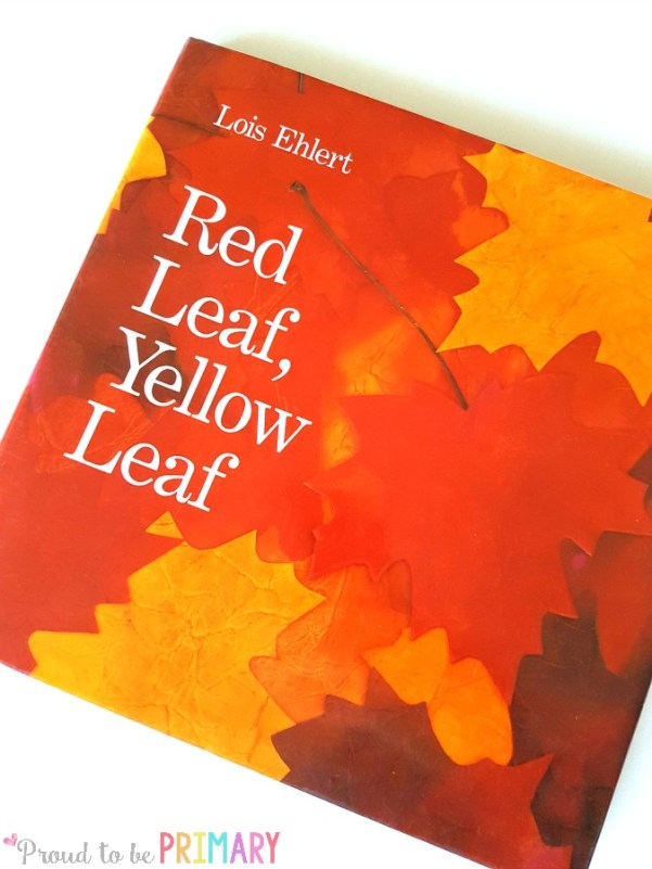 leaf activity for fall learning- red leaf, yellow leaf book