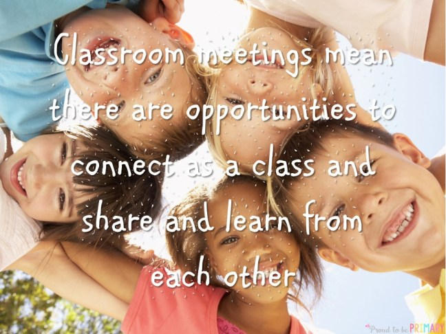 building classroom expectations - classroom meetings