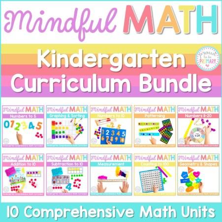 mindful math program kindergarten curriculum