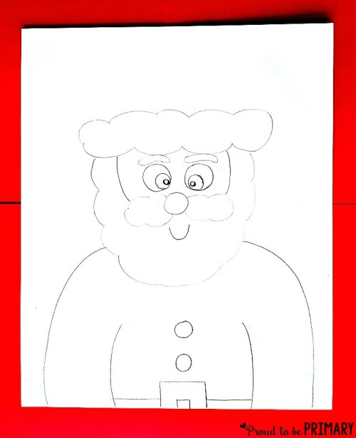 Santa Claus Drawing step 3