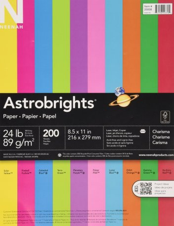 Holiday gifts for teachers - Astrobrights paper