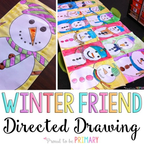 Christmas stories for kids - snowman directed drawing