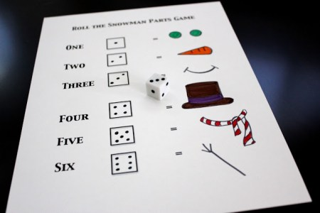 Toddler Approved - Build a Snowman Dice Game