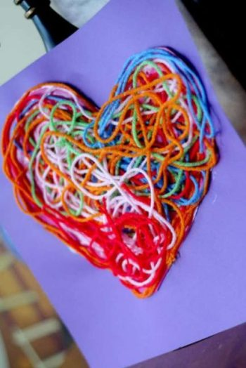 Hands on as We Grow - Texture Yarn Heart Craft