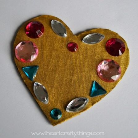 I Heart Crafty Things - Jeweled Symmetry Heart Craft