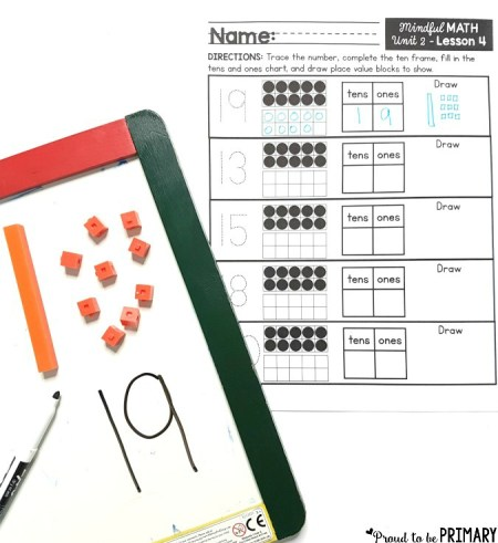 place value worksheets for building number sense to 20