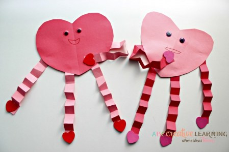 ABC Creative Learning - Construction Paper Heart Craft