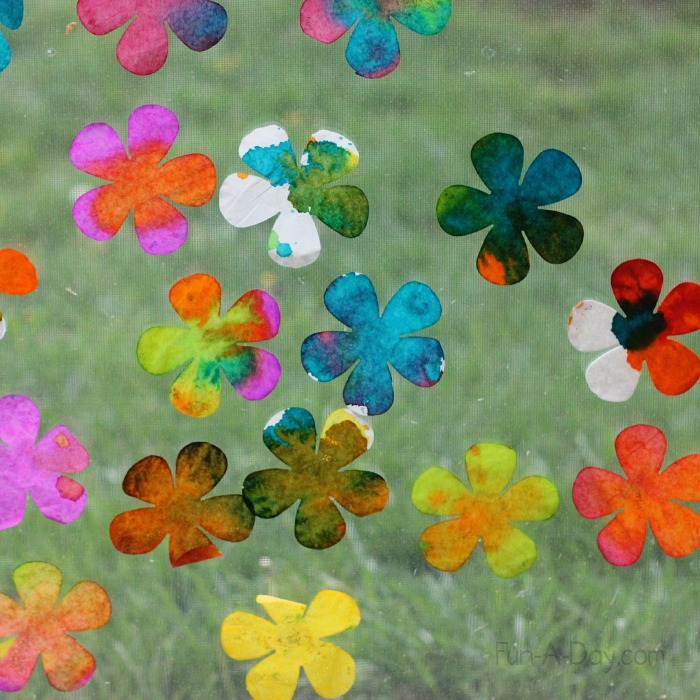 Fun-a-Day - Color Experiment with Coffee Filter Flowers
