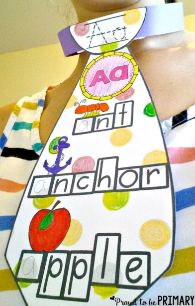 letter recognition - alphabet letter ties