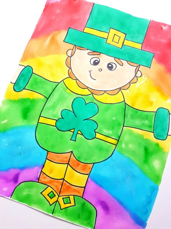 How to Draw a Leprechaun - directed drawing for St. Patrick's Day