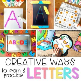letter recognition - creative ways to learn and practice letters