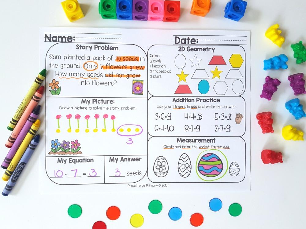 ways to practice math skills at home - math mats