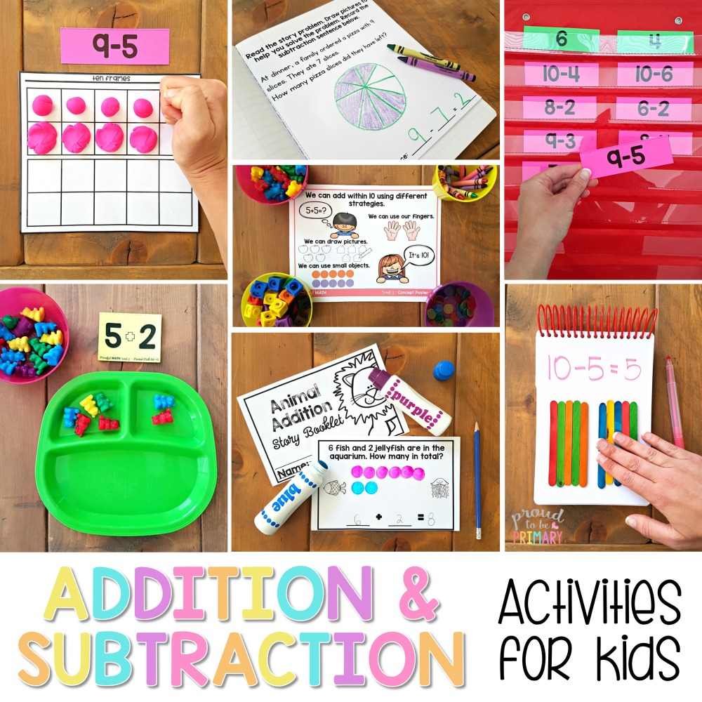 Addition and Subtraction Activities for Kids: FUNdamental Methods – Proud  to be Primary [ 1000 x 1000 Pixel ]