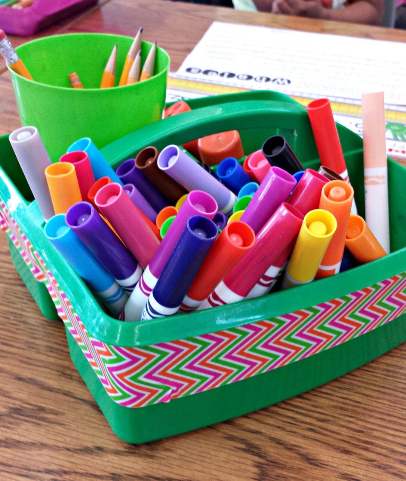 classroom organization ideas -supply caddy
