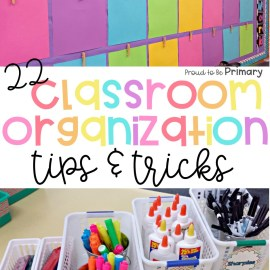 classroom organization tips and trick blog post