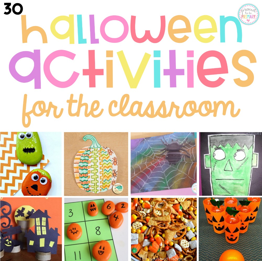 30 Halloween Activities for Kids: Creative and Fun Classroom Ideas! – Proud  to be Primary [ 1000 x 1001 Pixel ]