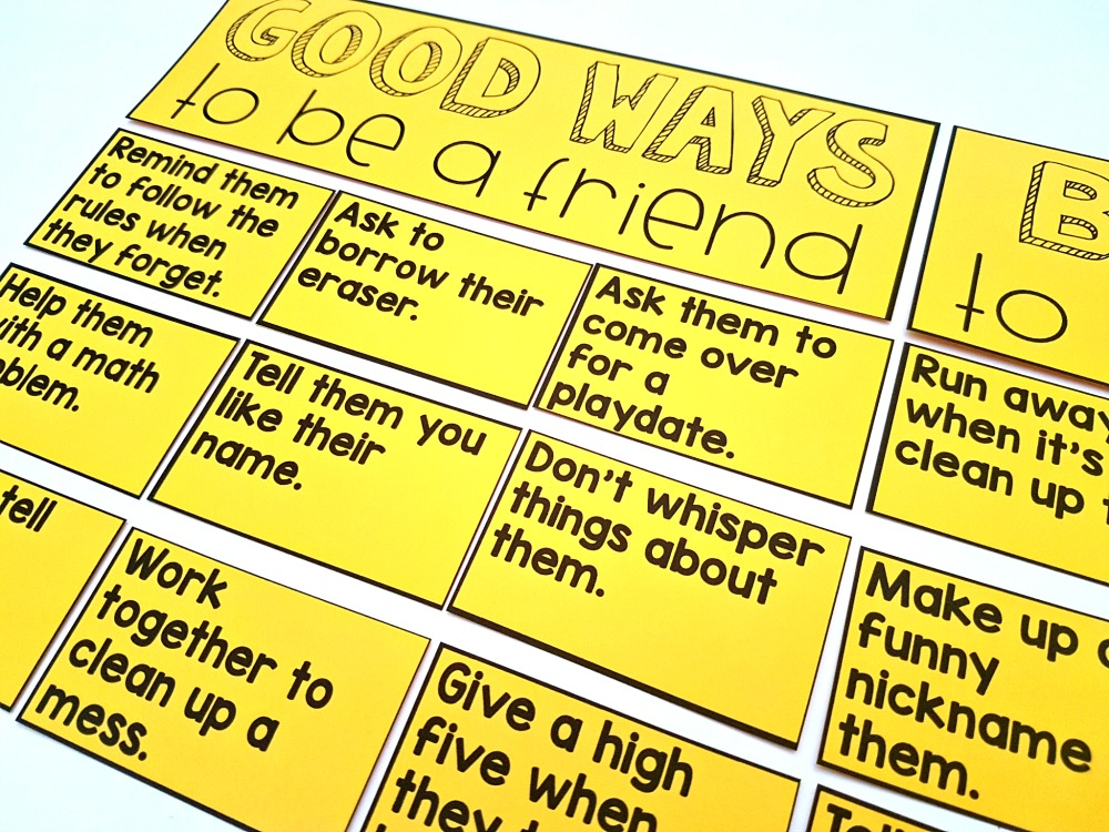 friendship activities - good ways to be a friend