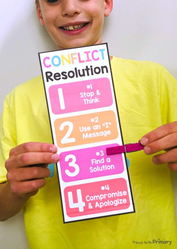 Conflict Resolution Clip Chart for Kids