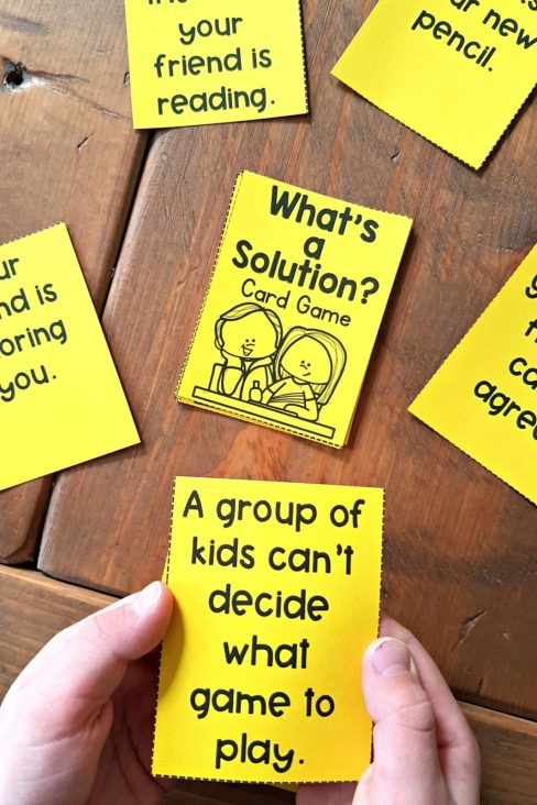 conflict resolution activities - what's the solution card game
