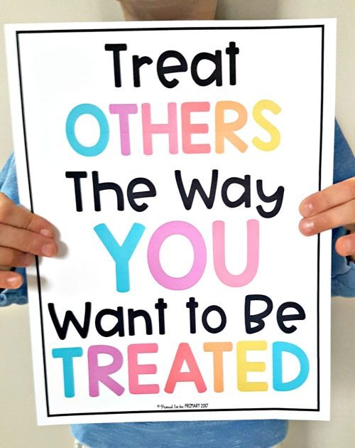 Respect Activities- golden rule poster