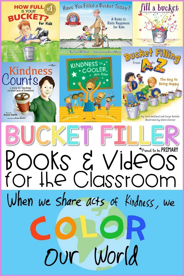 bucket filler books and videos for the classroom