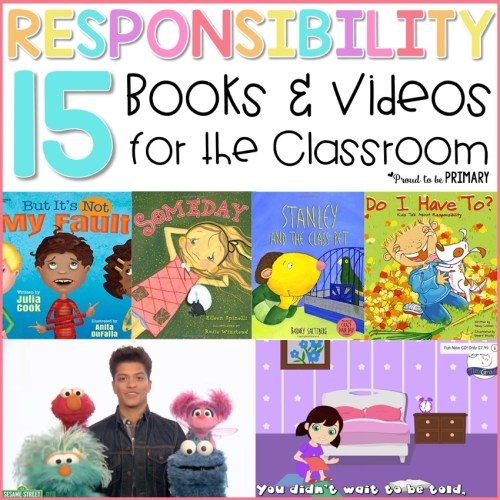 teach kids how to be responsible with books and videos for the classroom